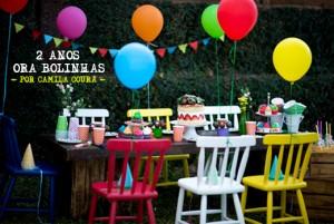 decoração de aniversário com bexigas