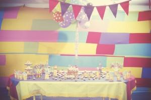 decoração de festa com tema circo