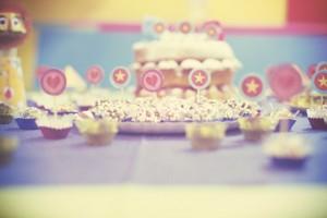 mesa de doces com tema circo
