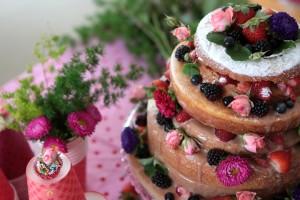 festa de menina naked cake
