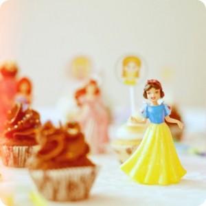 decoração de festa das princesas branca de neve