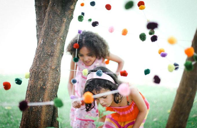 pompons para festa infantil