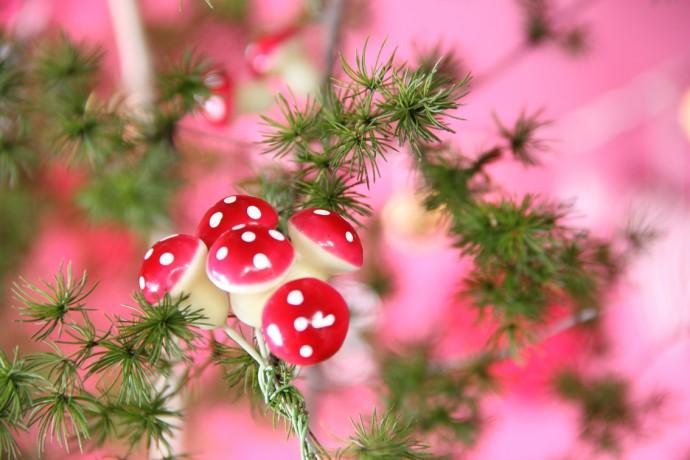 enfeite de natal cogumelo